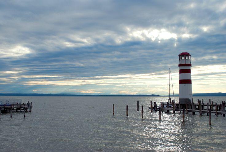 "Nyugalom ""szigete""... #austria #podersdorf #lake #fertoto #faro #vilagito #torony #relax #lighthouse #serenity #sky"