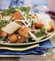 Фото к рецепту: Паста (широкая лапша) с тыквой, кедровыми орешками и сыром