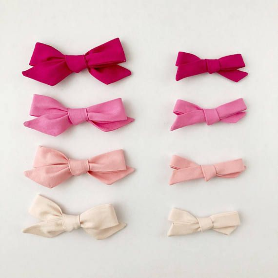 Valentines Bow, Valentines Baby Headband, Valentines baby bow, Baby Girl Headband, Baby Bows, Valentines baby girl, Hair Clips Pick your pink! 2 sizes, 4 shades ranging from a perfectly pale blush all the way to a deep magenta pink. Available on either a super soft, flexible nylon