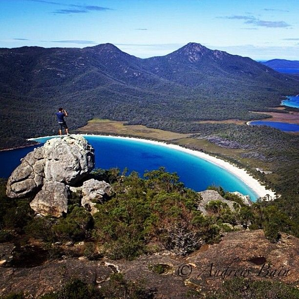 spectacular view from #MtAmos in #Freycinet National Park #Tasmania