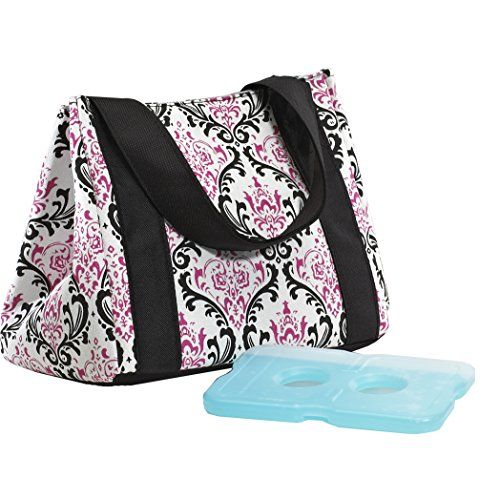Fit & Fresh Ladies Venice Insulated Lunch Bag with Ice Pack, Magnetic Closure, Pink/Black Fit & Fresh http://www.amazon.com/dp/B004LTE52A/ref=cm_sw_r_pi_dp_RFkDub1GBSK9E