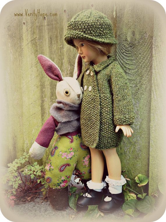 Vintage 1940s inspired rabbit / doll making supplies by VerityHope