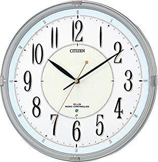 Amazon|CITIZEN ( シチズン ) 電波 掛け時計 ネムリーナM419 8MY419 ... CITIZEN ( シチズン ) 電波 掛け時計 ネムリーナM416 高光度 蓄光 シルバー 8MY416-019