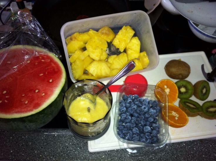 Fresh fruits for making rainbow ice lollies