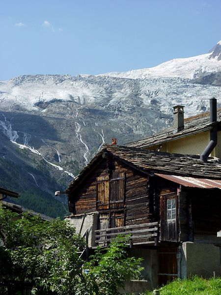 Old house in Saas Fee, Valais, Switzerland