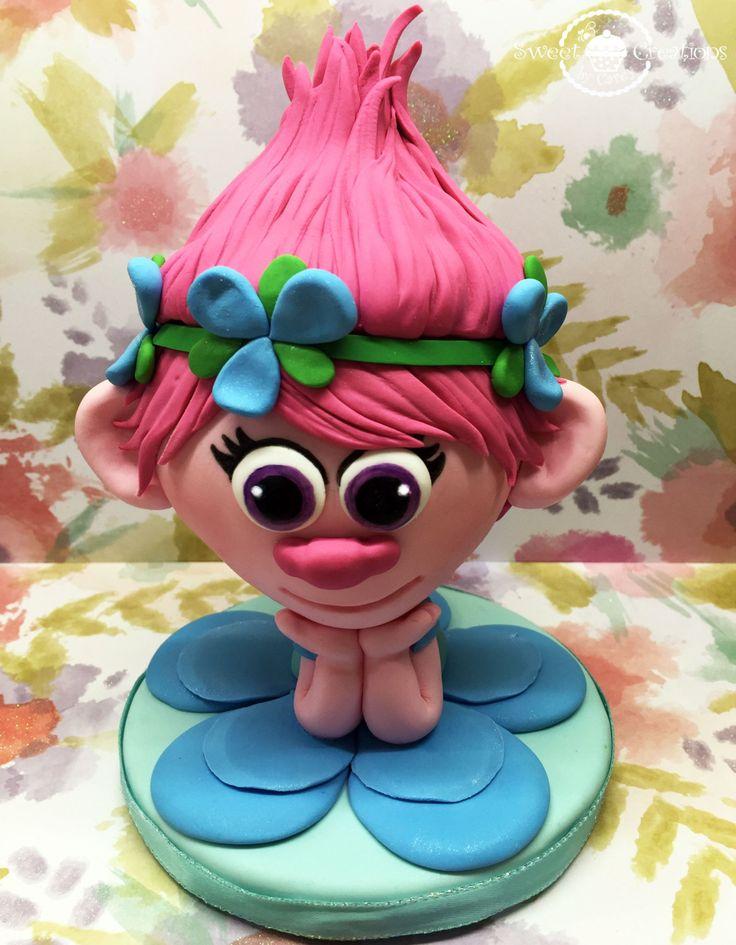 Fondant Poppy The Movie Trolls Cake Topper By
