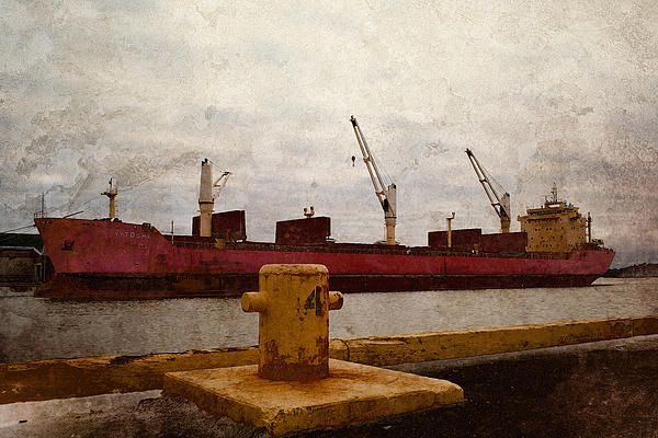 Redboat2. Photo art by WB Johnston, available as prints in a large variety of sizes.