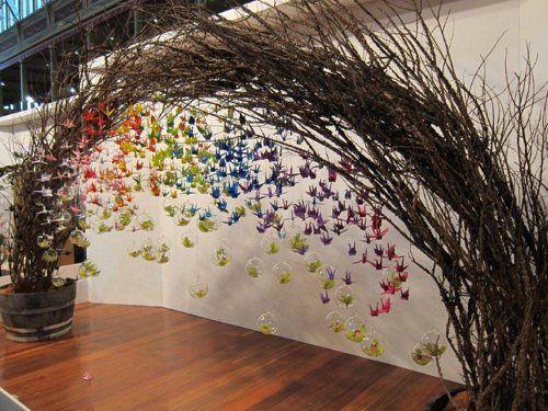 Origami birds display at MIFGS -simply elegant!