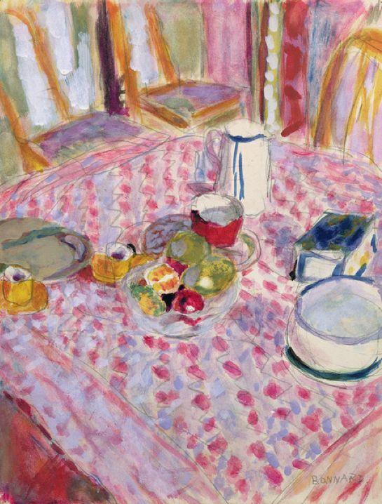 Apres le Dejeuner - Pierre Bonnard  After Breakfast - Pierre Bonnard