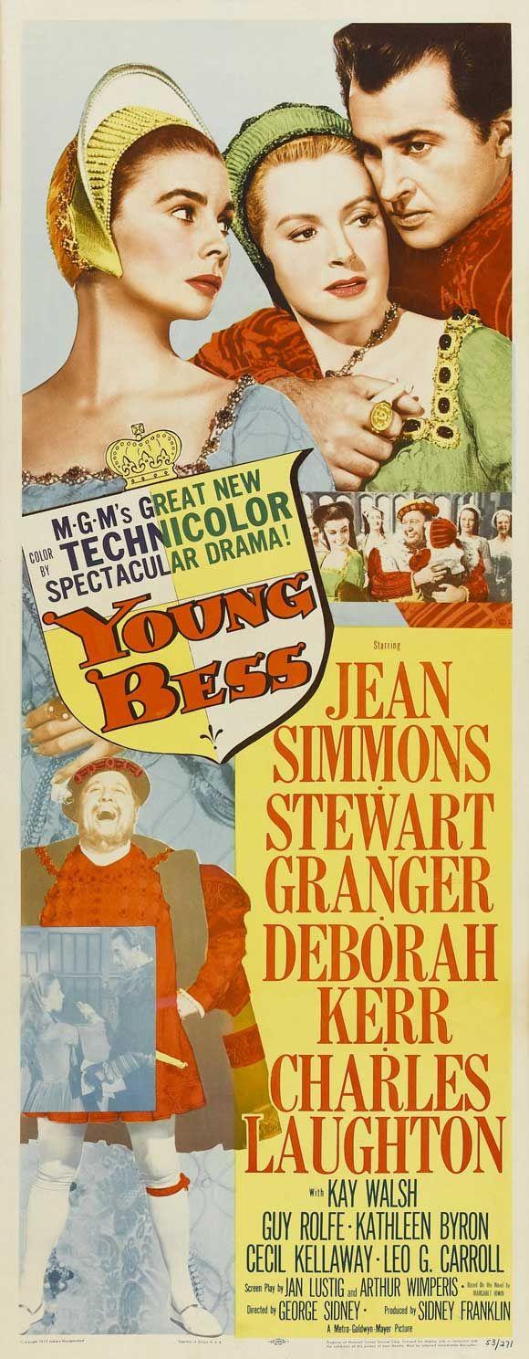 1953 young bess Jean #Simmons Stewart #Granger Deborah #kerr