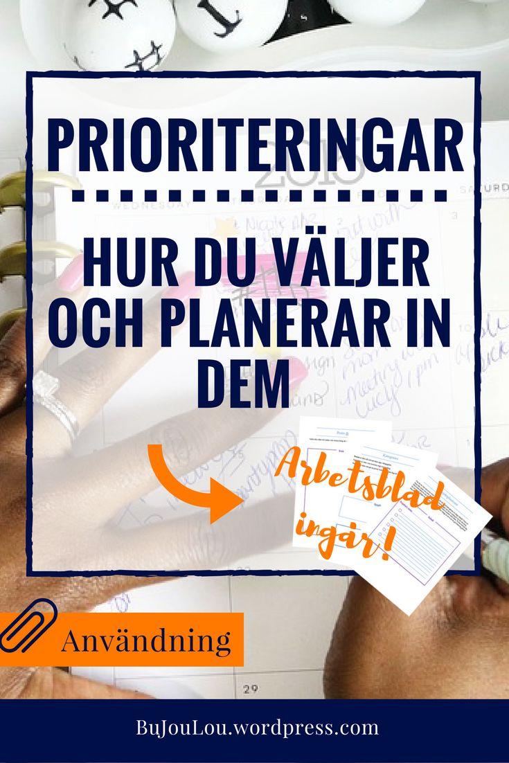 Guide till att prioritera, inkluderar arbetsblad! #bujo #bulletjournalcollection  #priorities #bulletjournal #bujotips #tips #bujosveige