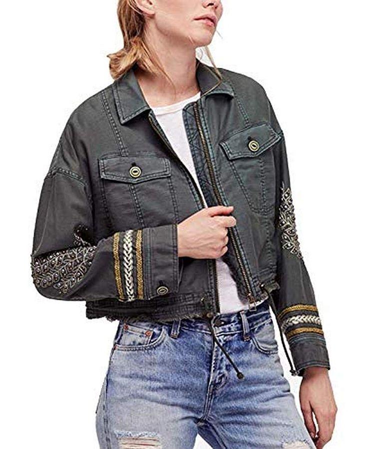Military style denim jacket petite — img 11