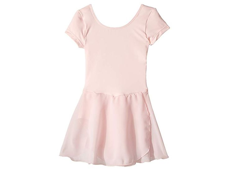 Bloch Kids Cap Sleeve Skirted Leotard (Toddler/Little Kids/Big Kids) Girl's Dress Candy Pink