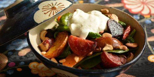 Roasted baby beetroot salad