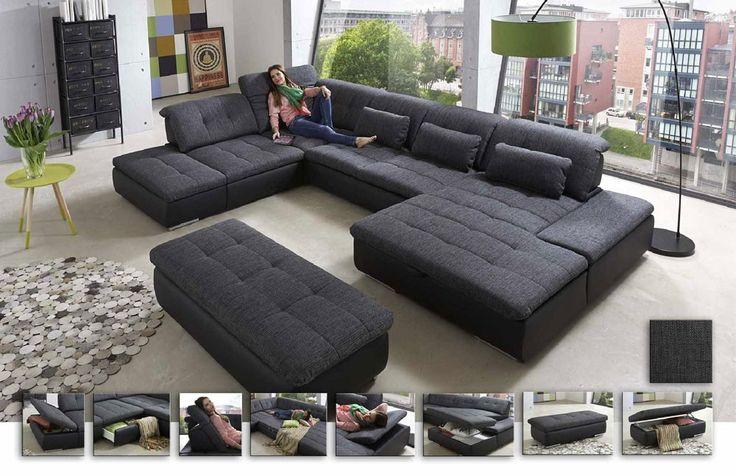 die besten 25 wohnlandschaft ideen auf pinterest warmes grau warme graue farbe und ruhe grau. Black Bedroom Furniture Sets. Home Design Ideas