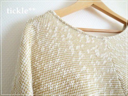 スラブ糸を使用してぽこぽこと表情豊かなニット素材でお作りしました。春色のかわいらしい生地です。これから春先にかけて、シャツなどとあわせてもいいですし、初夏から...|ハンドメイド、手作り、手仕事品の通販・販売・購入ならCreema。