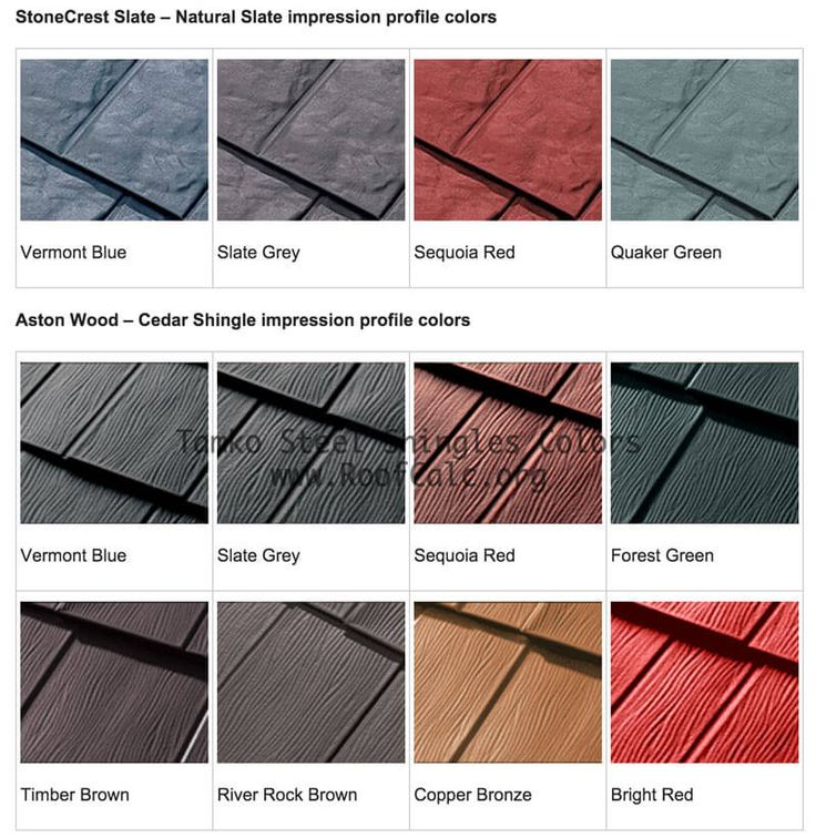 Tamko Metal Roof Shingles Colors