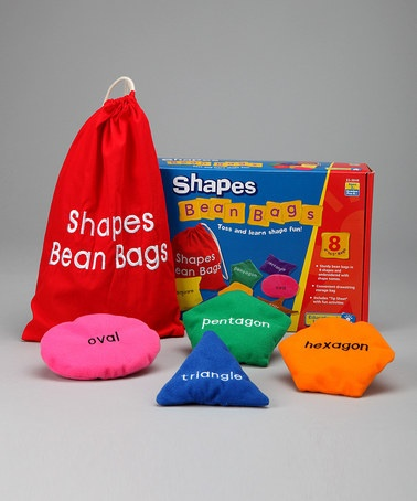 Take a look at this Educational Insights Shapes Beanbag Set by Educational Resources Collection on #zulily today!Education Insight, Crafts Ideas, Children Learning, Back To Schools, Baby Ideas, Beanbag Sets, Beans Bags, Beanbag Diy, Bags Ideas