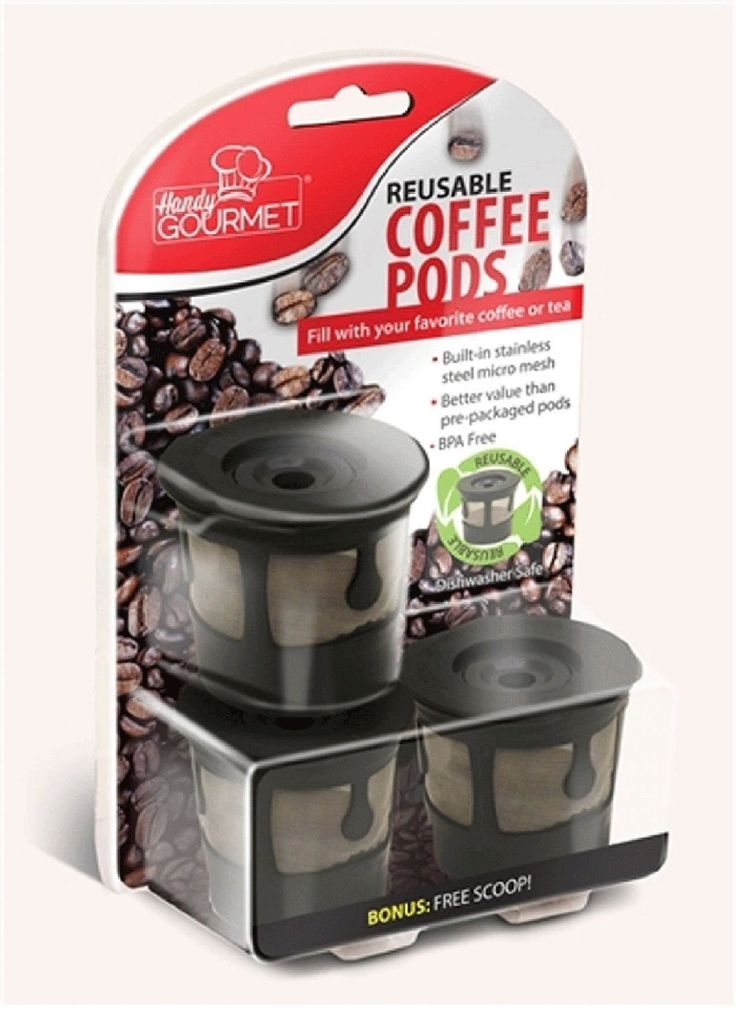 3x Reusable Coffee Pods Handy Gourmet Stainless Steel Mesh Filter Non BPA Kcup >>> Visit the image link more details.