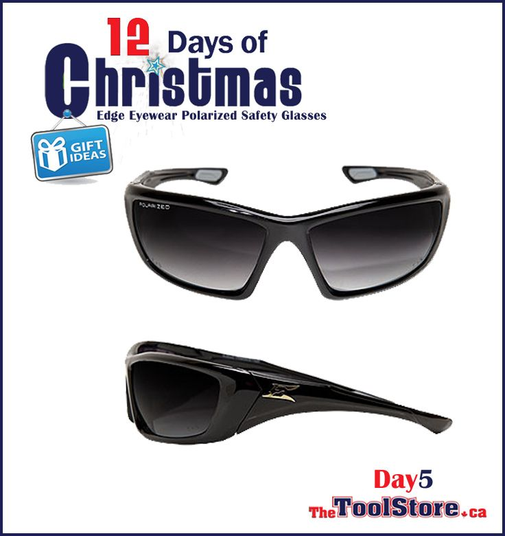 #12DaysofChristmas from @onlinetoolstore - DAY5 - Edge Safety Glasses & Tactical Eyewear, Polarized Safety Glasses, Black with Smoke Lens.