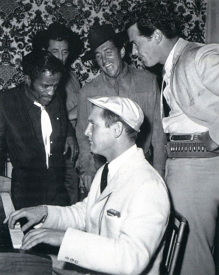 Maybe the coolest collection of people ever. Paul Newman, Sammy Davis Jr, Dean Martin, Robert Mitchum and James Garner
