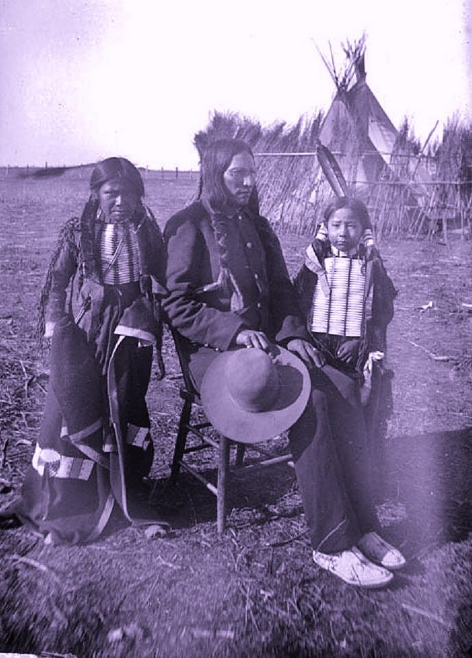 SOUTHERN ARAPAHO MAN WITH HIS TWO SONS , 1893