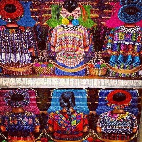 Native art from Santiago de Atitlan, Guatemala @jamiepdavy  (at lago de atitlan)
