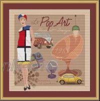 Gallery.ru / мода поп-арт. - дамы в стиле  ретро. схемы авторские платные .серия - nik-tin