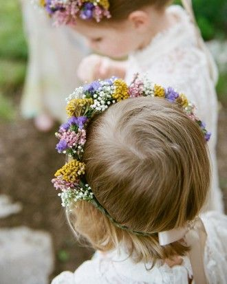 """See the """"Fresh Crowns"""" in our The Best-Dressed Flower Girls From Real Weddings  gallery"""