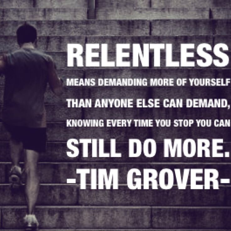 You can always do more. #relentless #timgrover