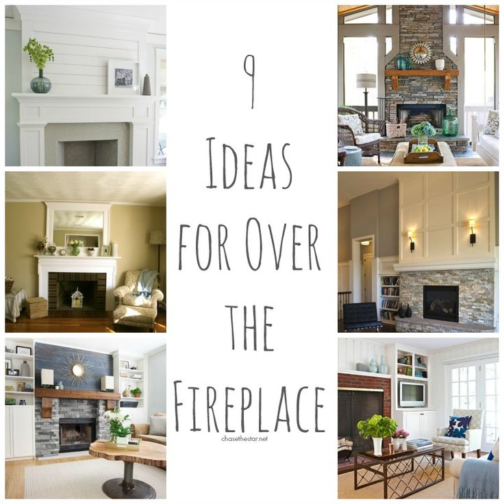 9 ideas for the wall over the fireplace diy home and - Over the fireplace decor ...