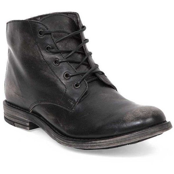 Bed Stu Hoover Boot ($90) ❤ liked on Polyvore featuring men's fashion, men's shoes, men's boots, black, mens black leather shoes, mens leather lace up boots, mens leather boots, mens lace up shoes and mens fur lined boots