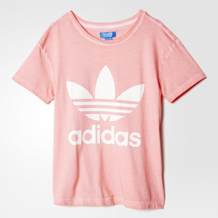 Adidas Women Shoes - ADIDAS Womens Shoes - Adidas Women Shoes - adidas  Premium Essentials Washed T-Shirt - Peach Pink