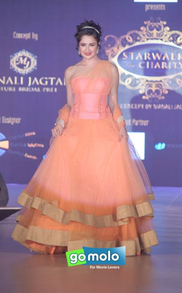 Yuvika Chaudhary at Manali Jagtap's 'Star Walk' charity fashion show in Mumbai