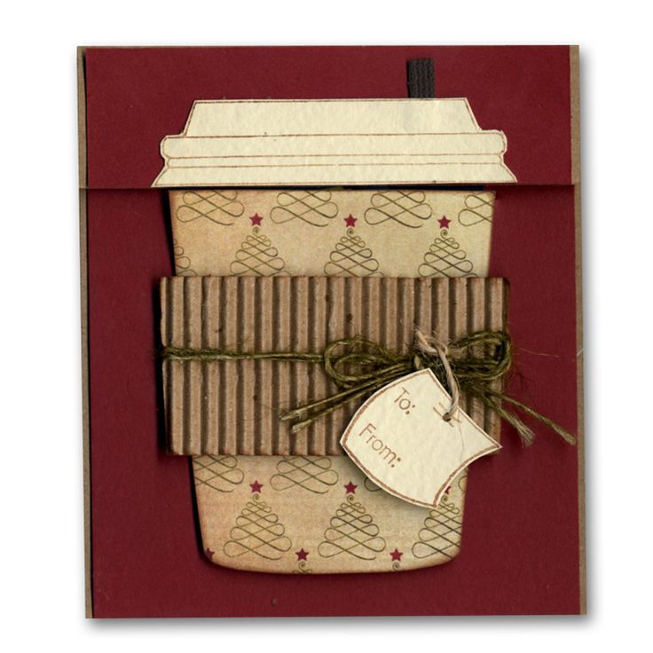 Holiday Card 51 Coffee Cup Gift Card, Bought This Stamp U0027cause These Areu2026