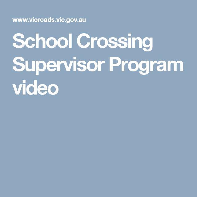 School Crossing Supervisor Program  video