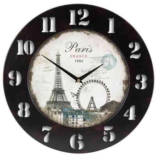 """Reloj de pared vintage """"París"""" de efecto decapado en http://www.vasderetro.com/relojes-retro"""