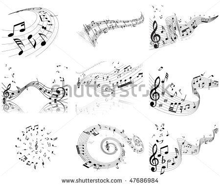 Music Notes Designs | Bird Music Notes Tattoo Designs