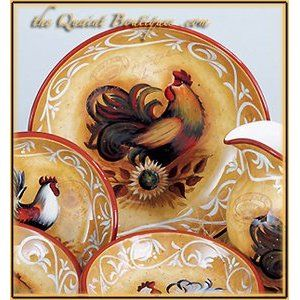 Rooster Dinnerware Sets For Gifts   InfoBarrel
