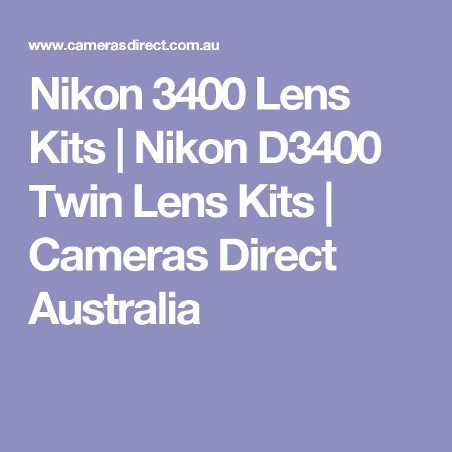 Nikon 3400 Lens Kits | Nikon D3400 Twin Lens Kits | Cameras Direct Australia