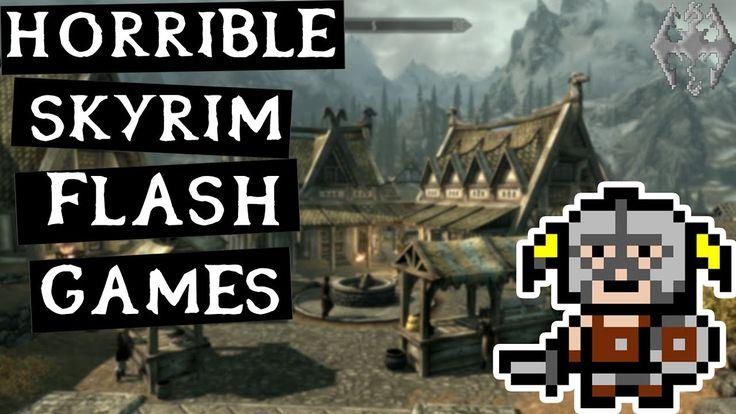 3 HORRIBLE Skyrim Flash Games! #games #Skyrim #elderscrolls #BE3 #gaming #videogames #Concours #NGC