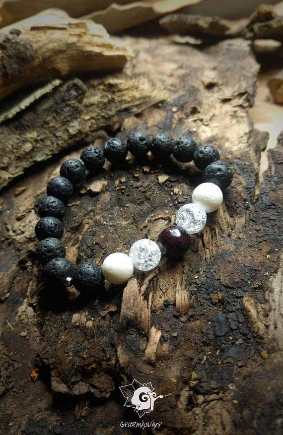 Hey, I found this really awesome Etsy listing at https://www.etsy.com/listing/591069967/lava-stone-white-coral-clear-quartz