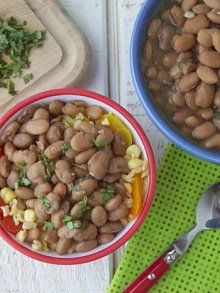 Pressure Cooker Pinto Beans (Pressure cooker is the ONLY way to make beans!  I could never EVER no matter how long I cooked them, get tender beans in the crock pot.  So fast and easy this way!)