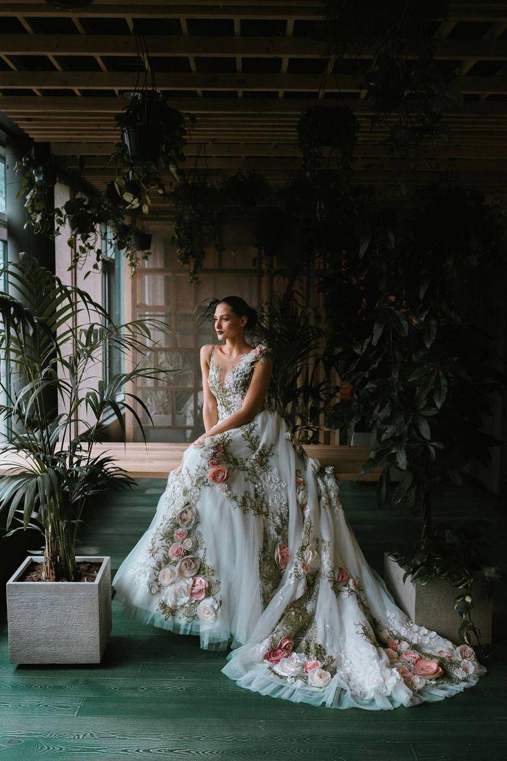 Wedding dress from Inga Ezergale design Rose Collection