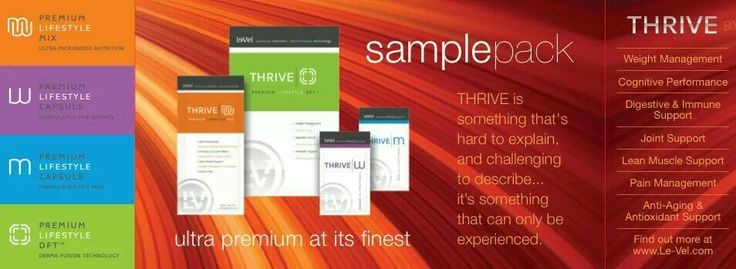 Le-Vel Sample pack's Give it a try! | Le-Vel Thrive ...