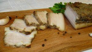 Свиная грудинка с горчицей, запеченная в рукаве