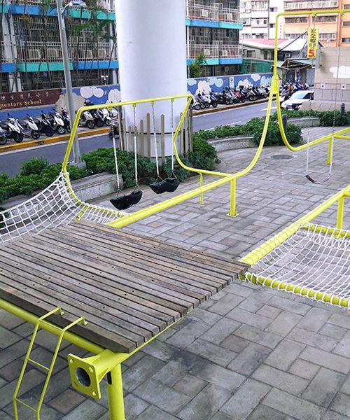 city yeast+basurama upcycle urban waste into temporary playground