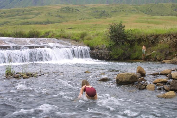 Playing in a mountain stream in the Kamberg. http://www.n3gateway.com/the-n3-gateway-route/ezemvelo-kzn-wildlife-kamberg-resort.htm