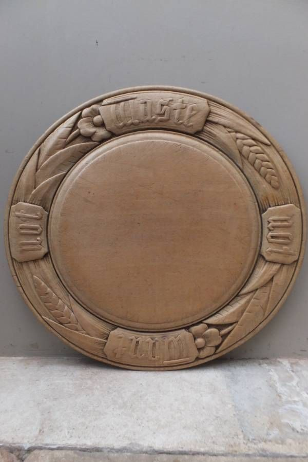 """Victorian Carved Bread Board - """"Waste Not Want Not"""" [ Most people likely wouldn't use this other than as a display piece - I would use it a lot; don't believe in not using practical things. The rim would be challenging]"""