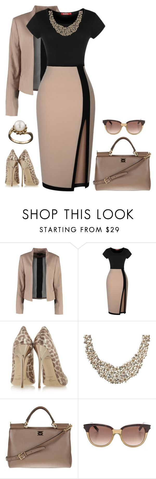 """1130"" by natalyag ❤ liked on Polyvore featuring Mexx Metropolitan, Miusol, Jimmy Choo, Kate Spade, Dolce&Gabbana and Yves Saint Laurent"